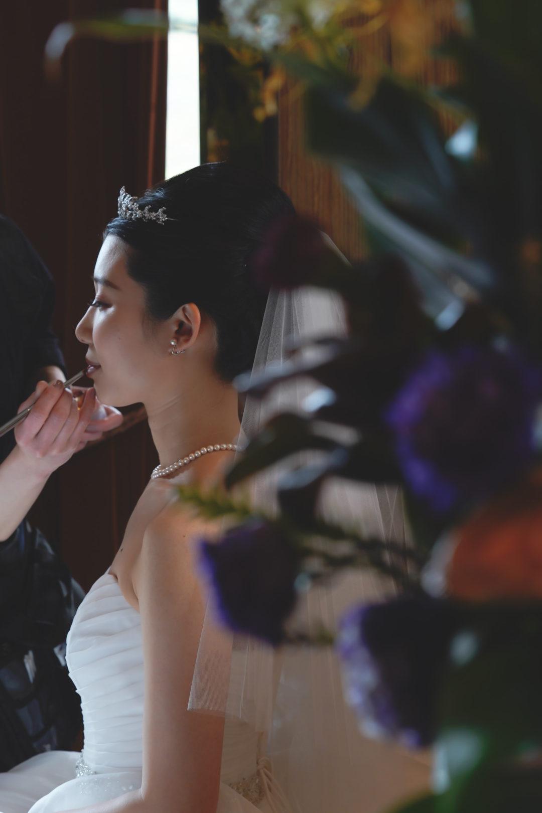 wedding花嫁メイクシーン