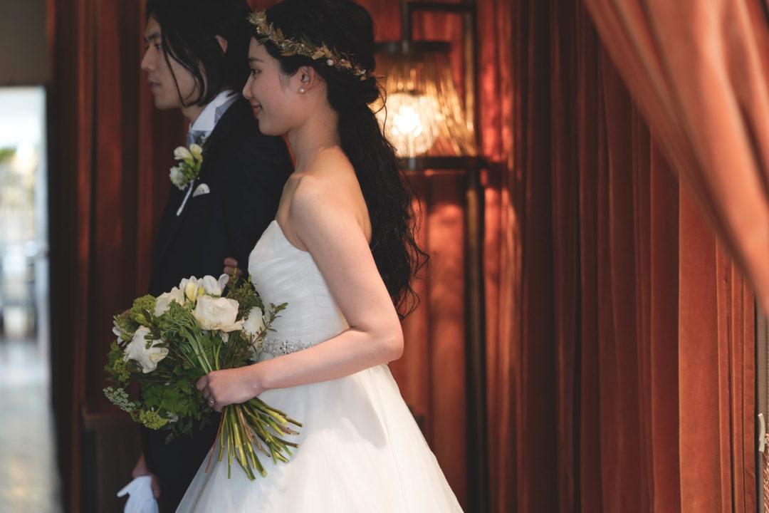 wedding新郎新婦入場 ヘアメイクスタイリング